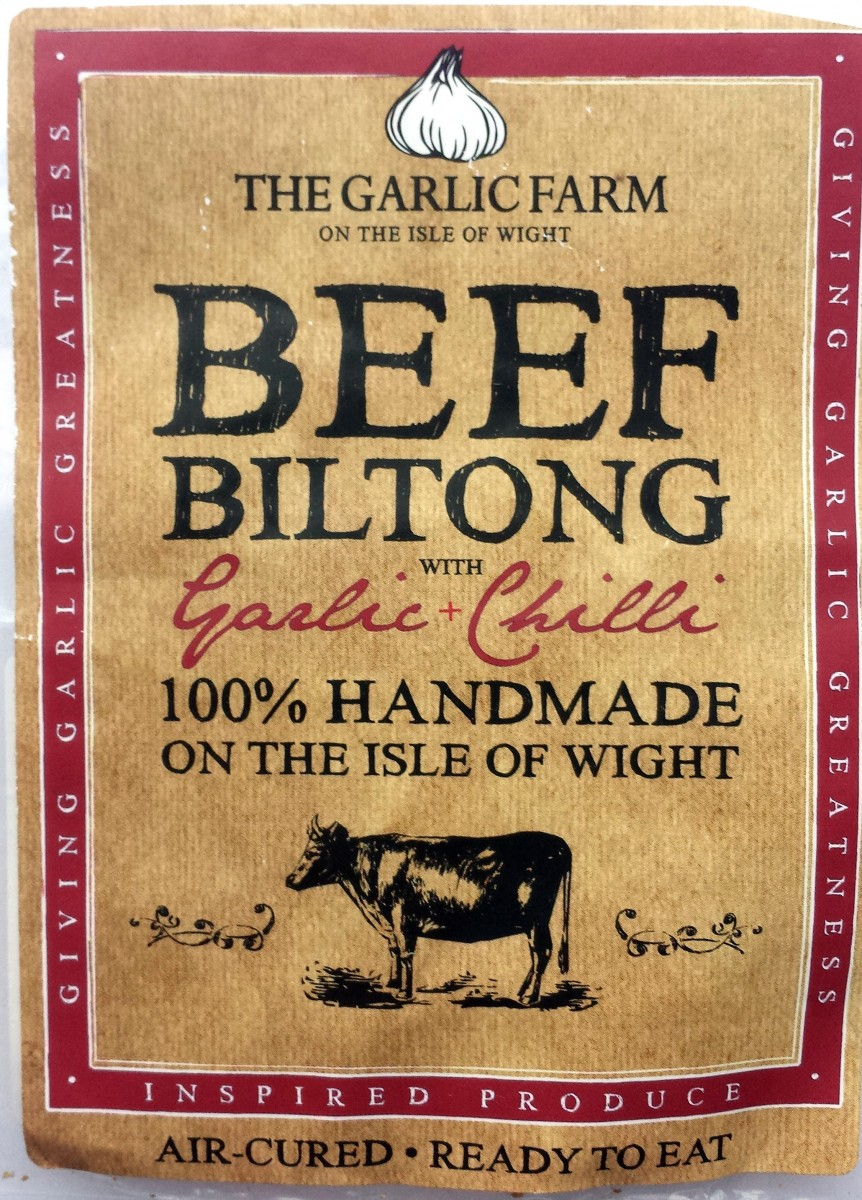 The Garlic Farm Beef Biltong with Garlic & Chilli