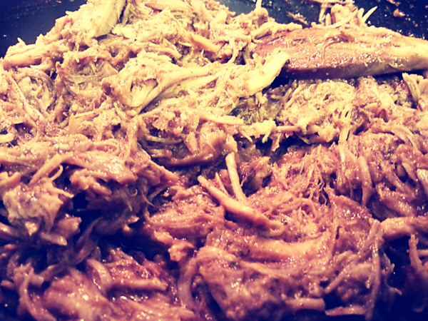 Pulled Pork made with Byron's Butt Rub
