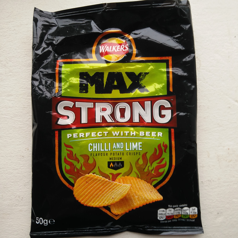 Walkers Max Strong – Chilli and Lime